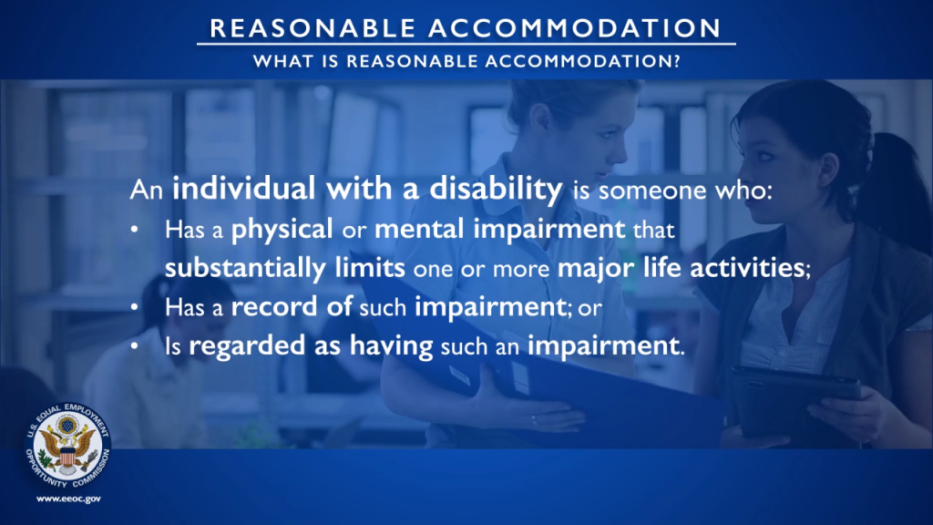EEOC - What is Reasonable Accommodation? (Training Video)