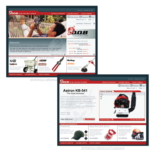 DOB Distributors: Web Site Design