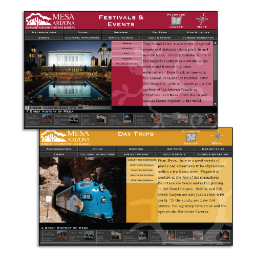 Mesa Convention and Visitors Bureau: Interactive DVD (Festivals & Events / Daytrips)
