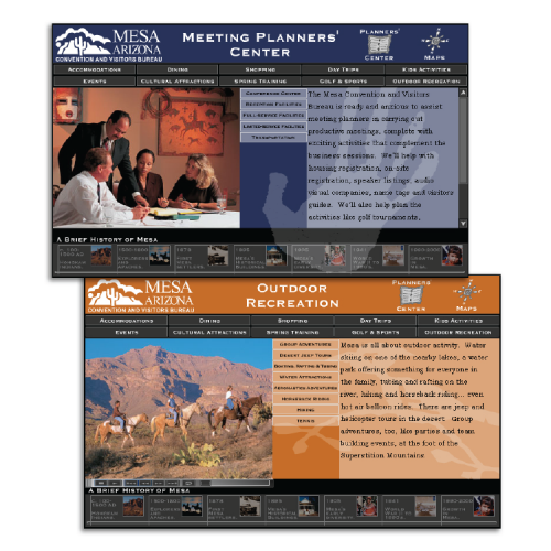 Mesa Convention and Visitors Bureau: Interactive DVD (Event Planners / Outdoor Recreation)